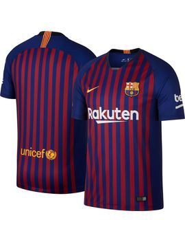 Nike Men's Barcelona Fc 2018 Breathe Stadium Home Replica Jersey by Nike