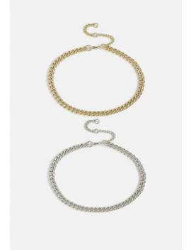 mixed-metal-chain-anklet-multi-pack by missguided