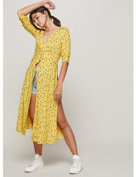 yellow-ditsy-print-tunic by miss-selfridge