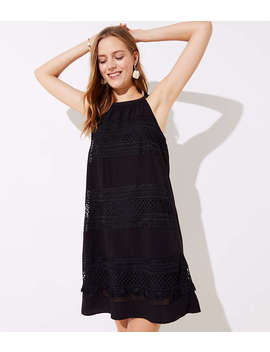 Tasseled Halter Swing Dress by Loft
