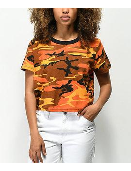 rothco-orange-camo-crop-t-shirt by rothco
