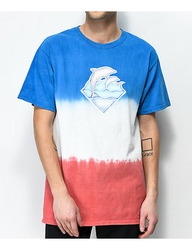 pink-dolphin-sketchy-waves-multicolored-t-shirt by pink-dolphin