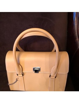 tan-leather-satchel by tiffany-&-co