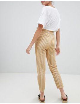 pull&bear-striped-peg-leg-trousers by pull&bear