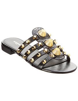 balenciaga-giant-leather-sandal by balenciaga