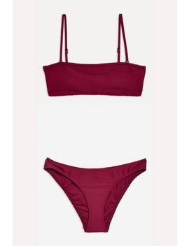 Ribbed Bikini Set by Topshop