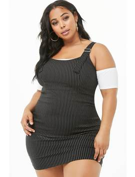 plus-size-pinstriped-mini-dress by forever-21