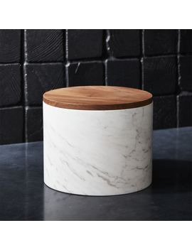 Ishi Marble Large Canister by Crate&Barrel