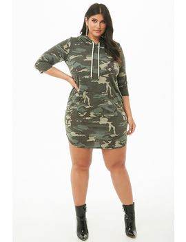 plus-size-french-terry-hooded-camo-dress by forever-21
