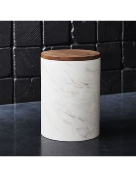 Ishi Marble Medium Canister by Crate&Barrel