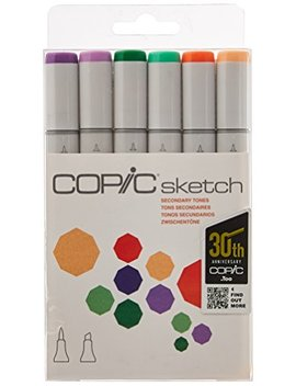 copic-marker-6-piece-sketch-set,-secondary-tones by copic-marker