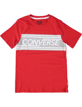 Red & Grey Logo T Shirt by Converse
