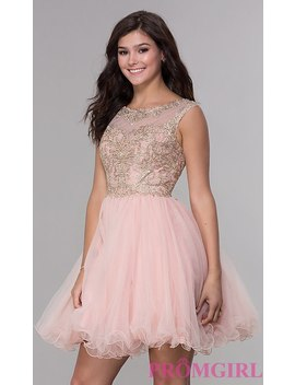 short-tulle-a-line-homecoming-dress-with-corset-back by promgirl