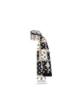 noir-black-white-super-pretty-confidential-bandeau-includes-box-receipt-scarf_wrap-scarf_wrap by louis-vuitton