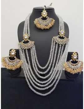 new-necklace-earrings-tikka-wedding-bridal-indian-pakistani-bollywood-jewellery by ebay-seller