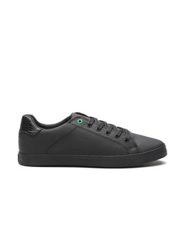 united-colors-of-benetton-men-black-textured-sneakers by united-colors-of-benetton