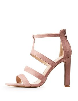 Caged Open Toe Sandals by Charlotte Russe