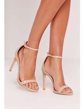 Barely There Heeled Sandal Nude by Missguided