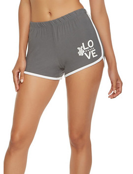 love-graphic-soft-knit-dolphin-shorts by rainbow