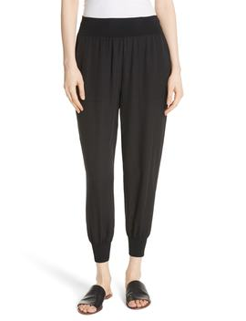 silk-jogger-pants by theory