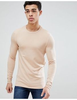 asos-design-muscle-fit-long-sleeve-t-shirt-with-crew-neck by asos-design