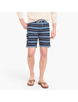 "9"" Board Short In Blue Stripe by J.Crew"