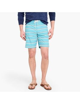 "9"" Board Short In Turquoise Stripe by J.Crew"