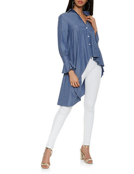 chambray-high-low-shirt by rainbow
