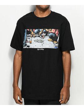 dgk-hustle-black-t-shirt by dgk