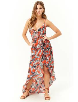 tropical-leaf-print-high-low-dress by forever-21