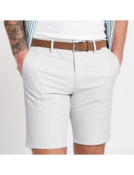 light-grey-belted-chino-shorts by river-island