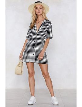 See If I Square Gingham Dress by Nasty Gal