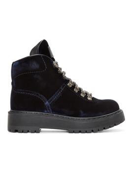 navy-velvet-hiking-boots by prada