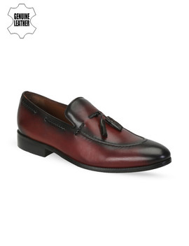 brune-men-burgundy-genuine-leather-semiformal-slip-ons by brune