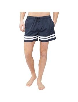 fred-&-boston-mens-taslan-shorts-with-leg-stripes-navy by mandm-direct
