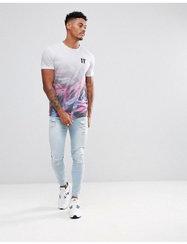 11-degrees-muscle-t-shirt-in-white-with-floral-fade by 11-degrees