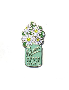 bloom-where-youre-planted---collectable-enamel-lapel-pin by modern-rosie