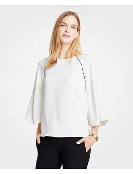 Scalloped Mixed Media Top by Ann Taylor