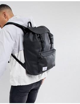 asos-design-hiker-backpack-in-black-rubberised-finish by asos-design