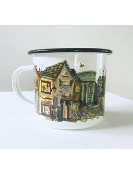 harry-potter-inspired-diagon-alley-tin-enamel-mug by etsy