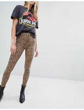 bershka-–-skinny-jeans-mit-leopardenmuster by bershka