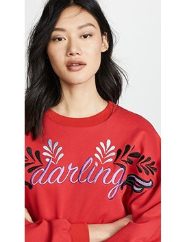 bedford-embroidered-tie-sleeve-sweatshirt by cynthia-rowley