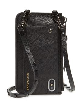 jane-leather-iphone-x-crossbody-case-&-pouch-set by bandolier