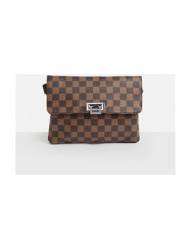 Brown Studd Detail Cross Body Bag by Missguided