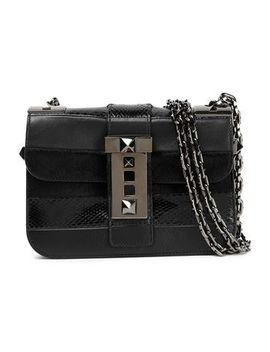 rockstud-leather,-python-and-calf-hair-shoulder-bag by valentino