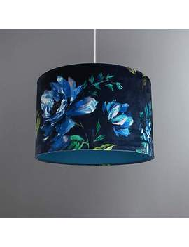 charm-floral-midnight-blue-light-shade by dunelm