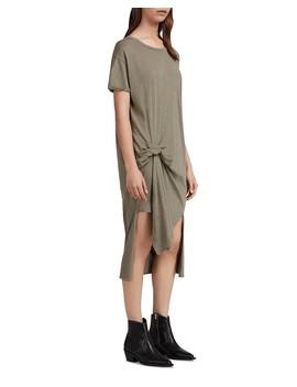 t-rivi-ida-pintuck-t-shirt-dress by allsaints