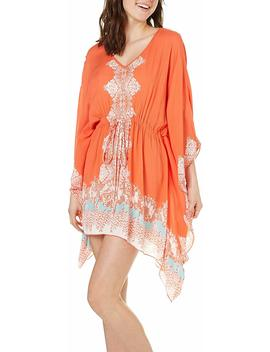 angie-womens-coral-printed-caftan-dress by angie