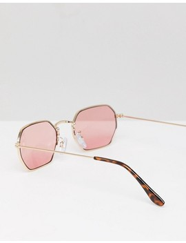 monki-hexagon-sunglasses-in-pink by monki