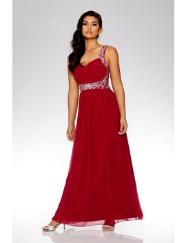raspberry-chiffon-embellished-maxi-dress by quiz